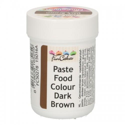 FunColours dark  brown - gélová farba - hnedá - kalíšok -30g