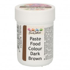 FunColours paste food colour - dark brown - cup 30g