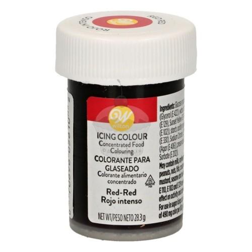 Wilton gelová barva Red-Red 28g - červená