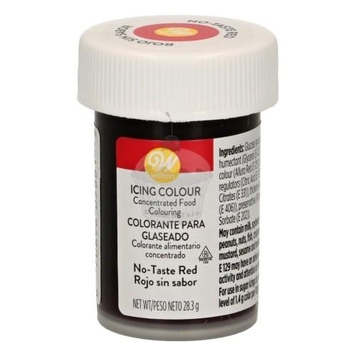 Wilton gélová farba Red no taste - červená non taste 28g