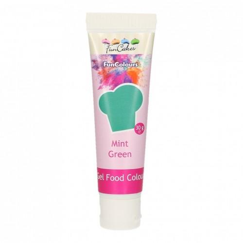 FunColours - gelová farba - zelená - MINT GREEN - 30g