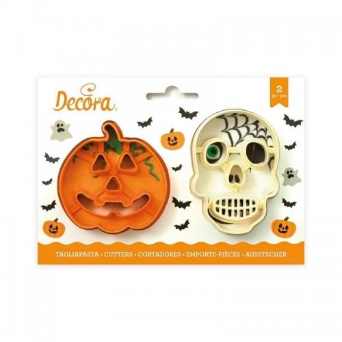 Decora sada vykrajovátek - halloween - lebka + dýně - 2ks