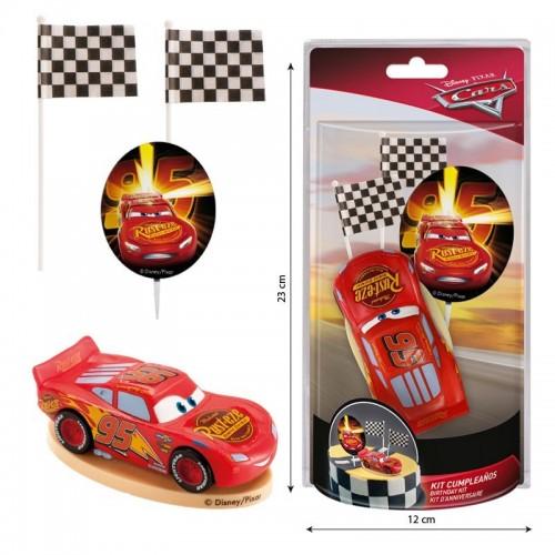 Dekorační figurka - Cars - Blesk McQueen 1+ 3
