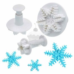 Snowflake - set of 3 cookie cutter with stamp
