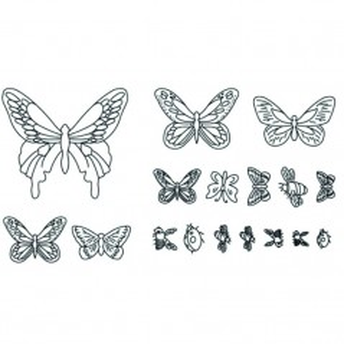 Ausstecher Patchwork - Schmetterling - 17St