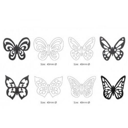 Vykrajovátko / naznačovač - čipkový motýľ 4ks
