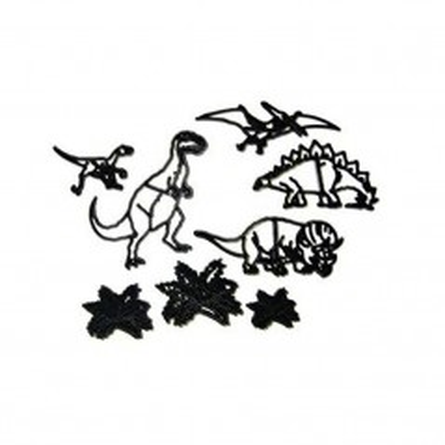 Ausstecher Patchwork - Dinosaurier - 8St