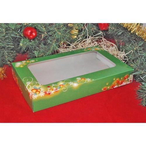 Krabice na vianočné pečivo - vianočné zelená - 1/2kg