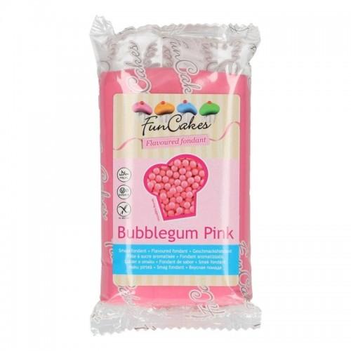 FunCakes ochucený potahový fondán - speciál - Bubblegum růžový 250g