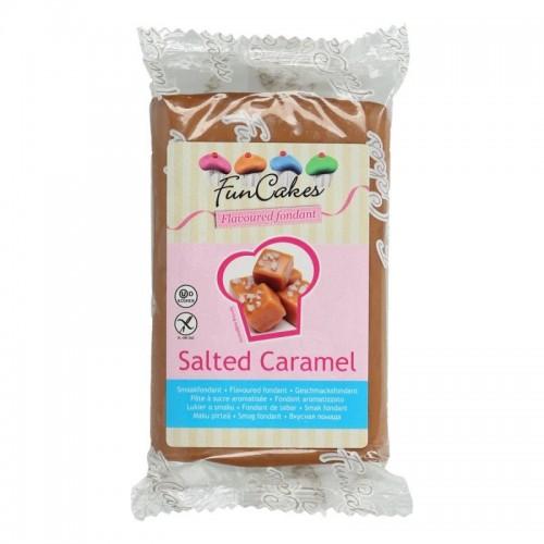 FunCakes ochucený potahový fondán - speciál - Salted Caramel 250g
