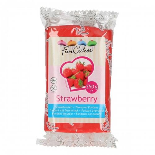 FunCakes ochucený potahový fondán - speciál - Strawberry 250g