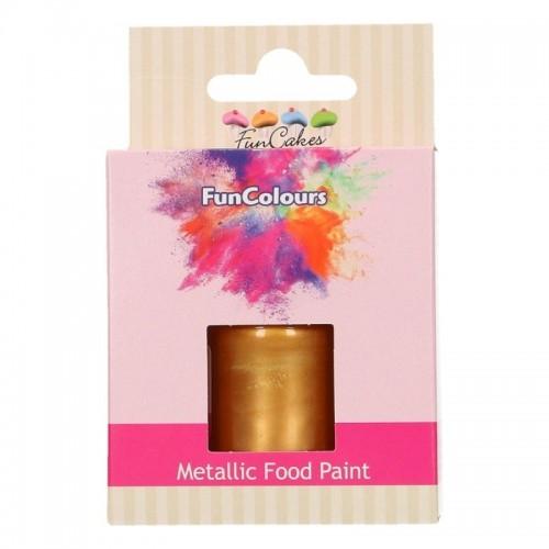 FunColours Metallic Food Paint Dark Gold - zlatá - 30ml