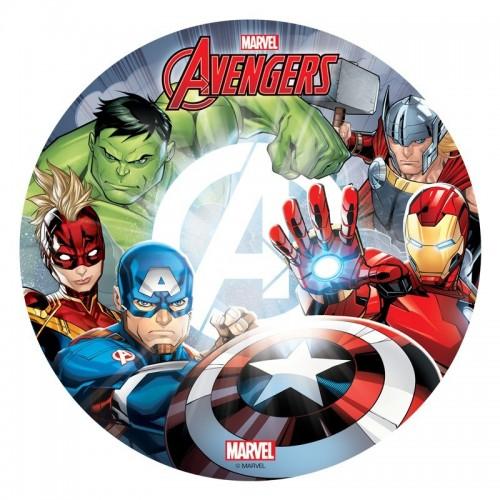 Dekora - Jedlý papír kulatý - Avengers