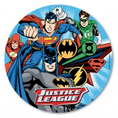 Dekora - Rundes essbares Papier - Justice League