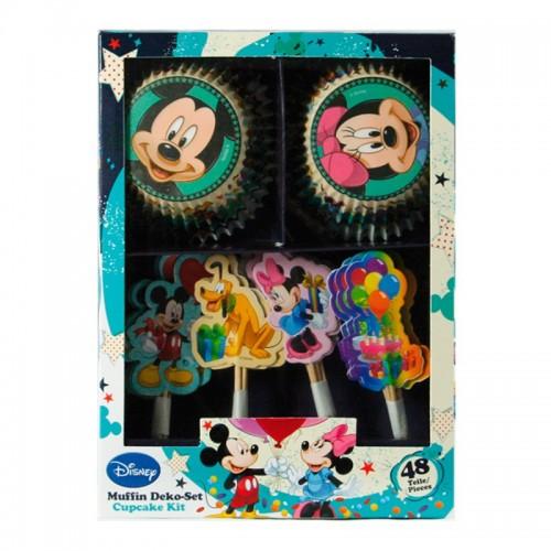 DecoCino - cukrárske košíčky - súprava - Mickey Mouse 24 + 24ks