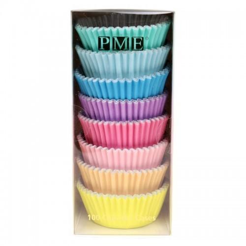 PME cukrárske košíčky - pastelové - 100ks