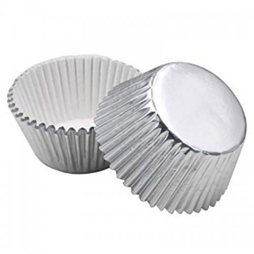 Decora cukrárske MINI košíčkami 2,7 x 1,7cm - strieborné - 90-100ks
