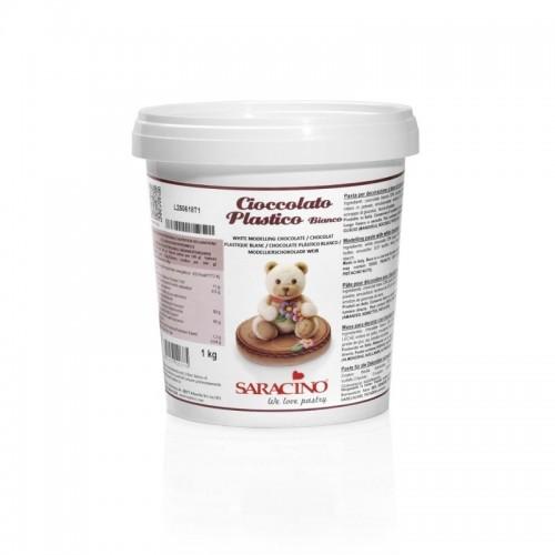 Saracino modelovacie čokoláda bielá - 1kg