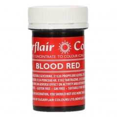 Sugarflair paste colour - Blood red  25g
