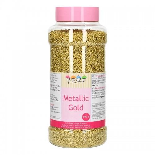 FunCakes sugar strands - metallic Gold - 800g