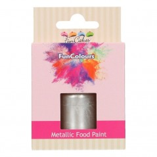 FunColours Metallic Food Paint Silver - strieborna 30ml