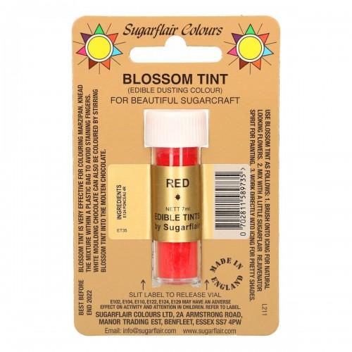 Sugarflair - prachová farba - červená - RED 7ml