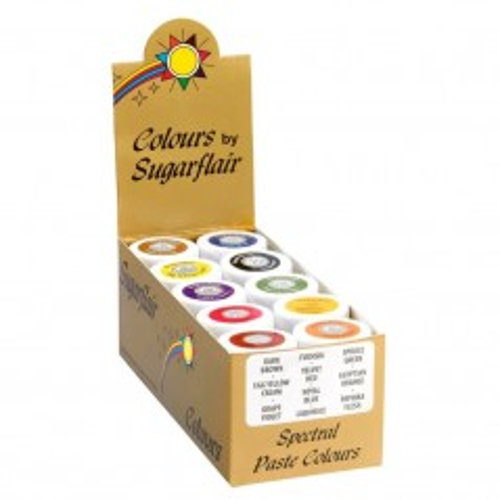 Sugarflair paste colours  spectral collection set 10st