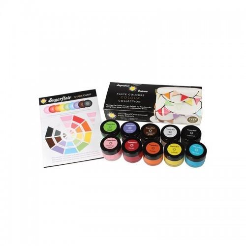 Sugarflair multi paste colours collection set 10ks