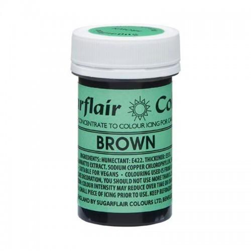 Sugarflair NatraDi Natural Brown - přírodní barvivo gelové - hnědá