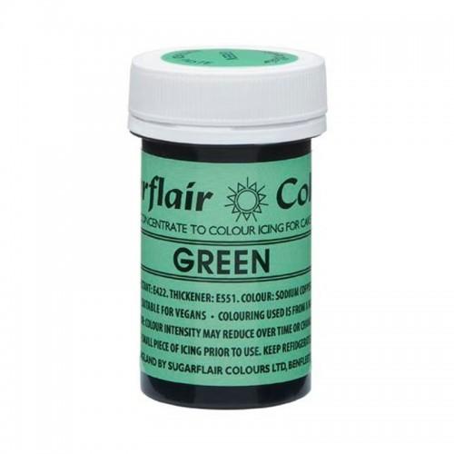 Sugarflair NatraDi Natural Green - přírodní barvivo gelové - zelená