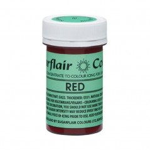 Sugarflair NatraDi Natural Red - přírodní barvivo gelové - červená