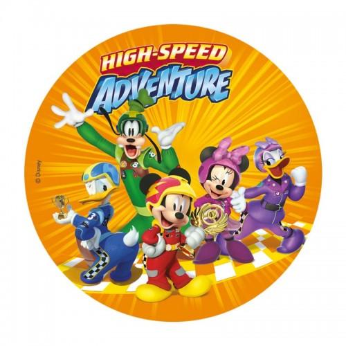 Dekora - Jedlý papír kulatý - Mickey Mouse a přátelé - 20cm