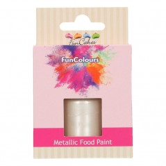 FunColours Metallic Food Paint Pearl white - perleťová 30ml
