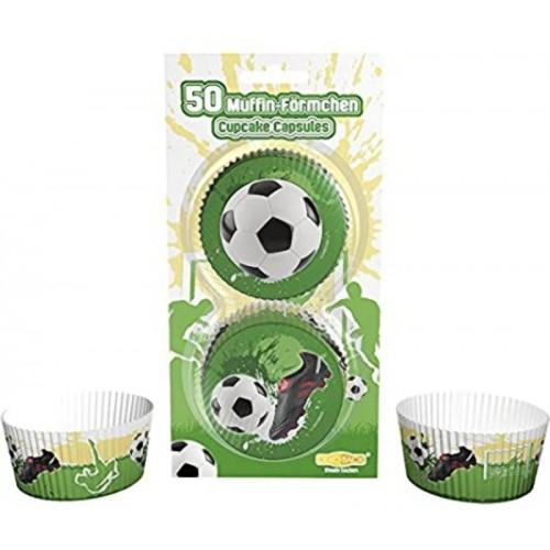 DecoCino cukrářské košíčky - Fotbal - 50ks