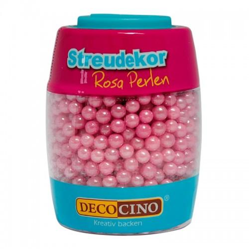 DecoCino cukrová dekorace - perličky růžové - 65g
