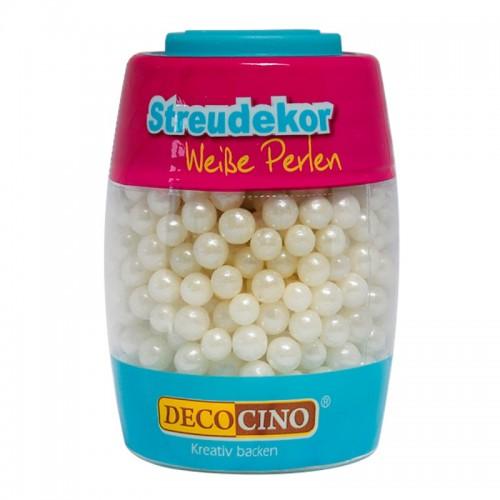DecoCino cukrová dekorace - perličky bílé - 65g
