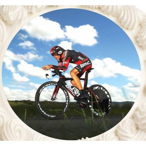 Essbare Papier Round  - Radfahrer
