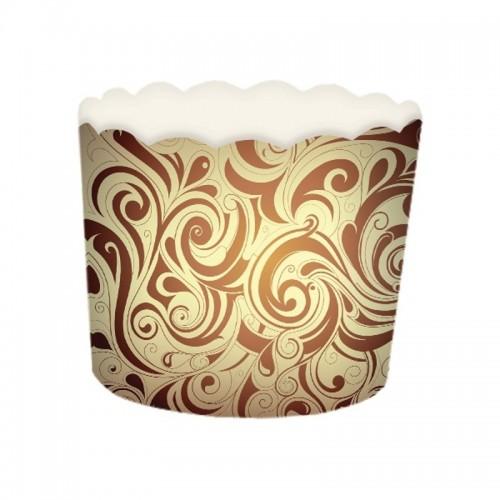 Košíček na muffin pevný - hnedý - 24ks
