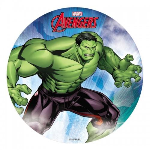 Dekora - Rundes essbares Papier - Hulk  - 20cm