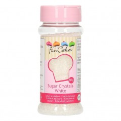 FunCakes Colored Sugar Weiß - 80g