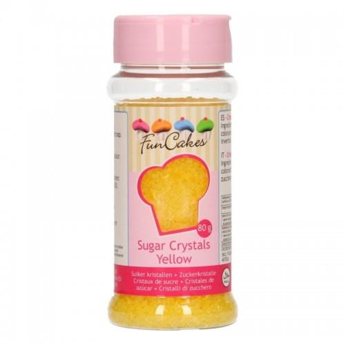 FunCakes Colored Sugar Gelb - 80g