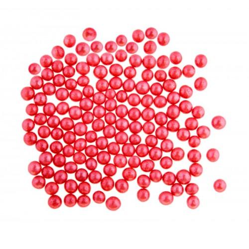 Zuckerperlen 4mm - rot - 50g