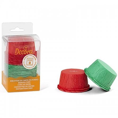 Dekora - Süßwarenkörbe - selbsttragend - grün / rot 25St