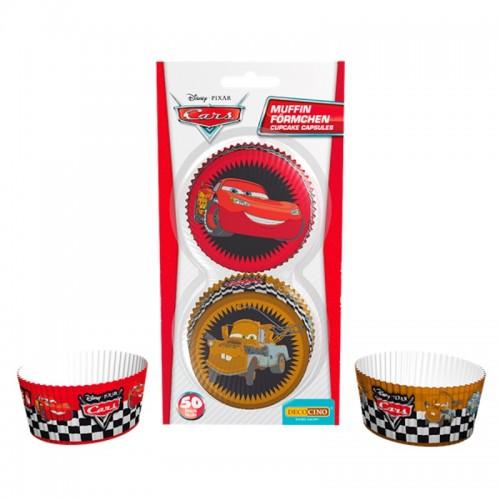 DecoCino Baking Cups - Cars - 50 Stück