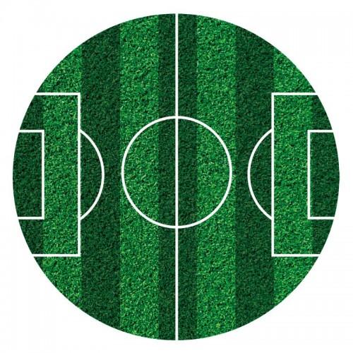 Dekora - fondánový list - fotbalové hřiště  -16cm