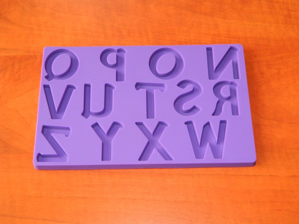 Silikonová forma - Velká písmena