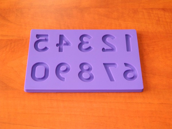 Silikonová forma - Čísla