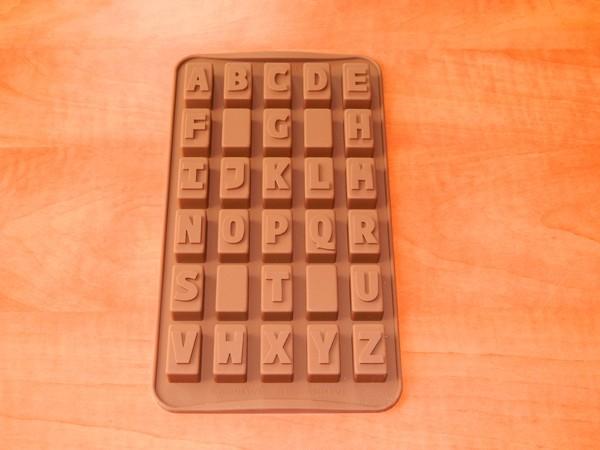 Silikonová forma na pralinky - Abeceda
