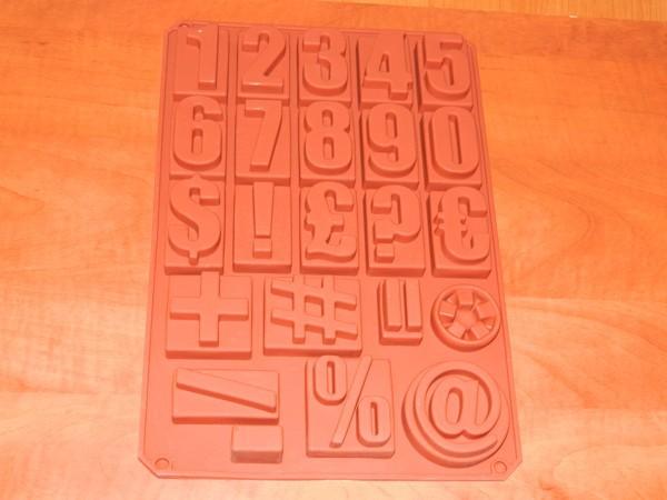 Silikonová forma - Číslice a znaky
