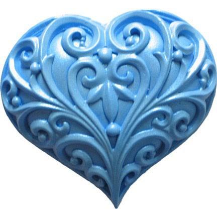 FI silikonová forma - Filigránové srdce